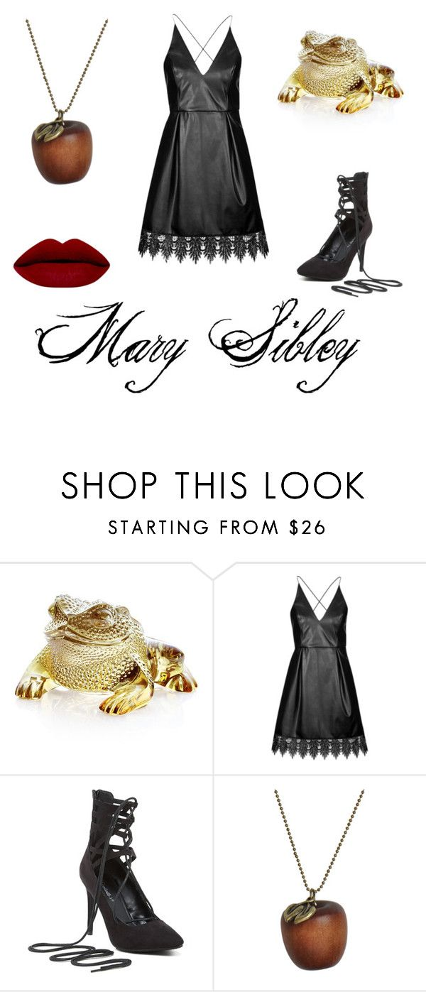 """""""Mary Sibley"""" by supremescully ❤ liked on Polyvore featuring Lalique, Topshop, Emi Jewellery, witch, Salem, MarySibley and wgna"""