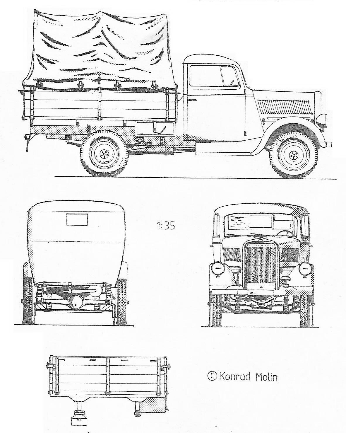 Opel Blitz Blueprint