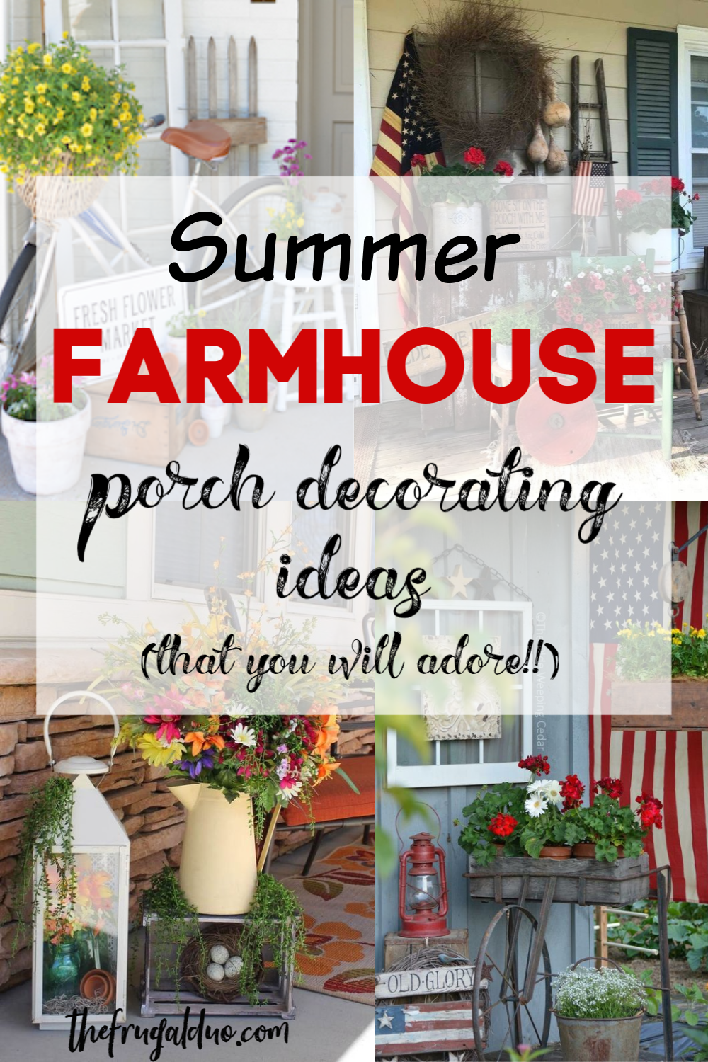 Easy and simple FARMHOUSE porch decor that you will love!! Here is a great collection of some of the best ideas around! #farmhouse #porchdecor