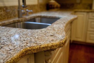 Granite Edge 1 4 Beveled Traditional Kitchen Countertops Dc Metro Grannies