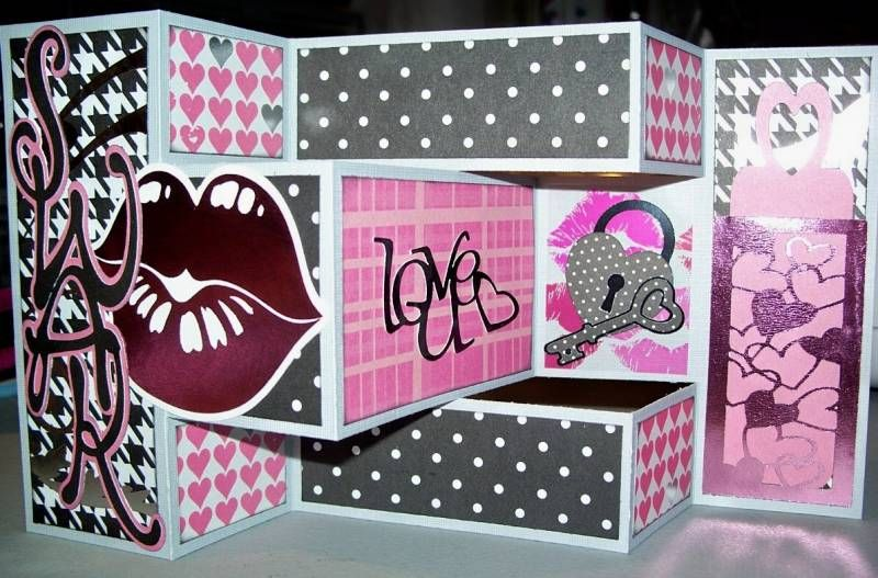 Love Tri Fold Shutter Card By Tigerfly Cards And Paper