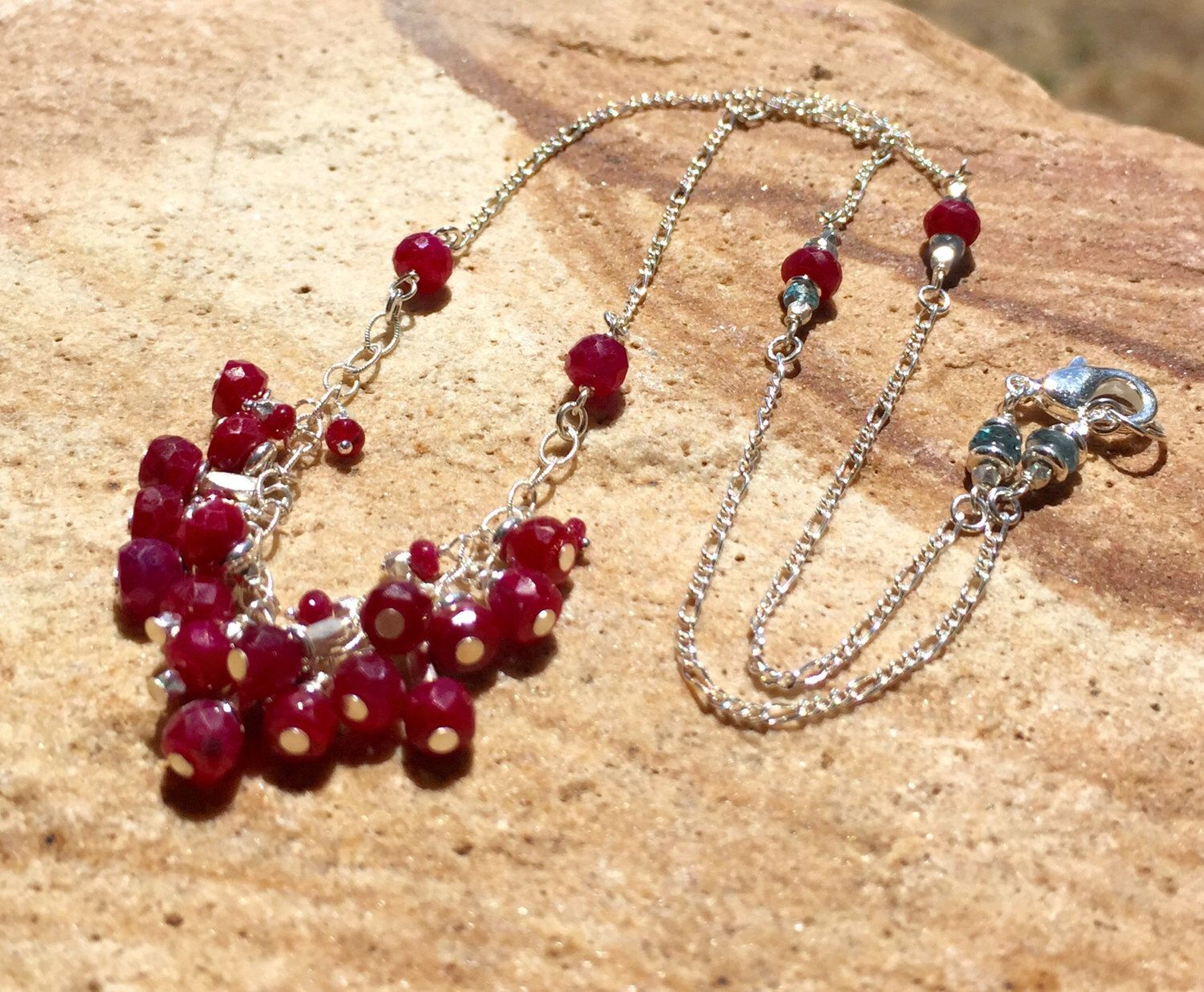 A personal favorite from my Etsy shop https://www.etsy.com/listing/236497384/ruby-obsession-necklace-sterling-link