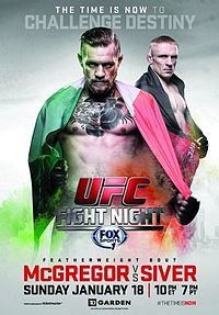 A poster or logo for UFC Fight Night: McGregor vs. Siver.