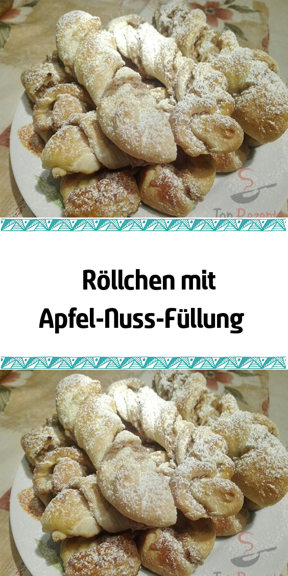 Photo of Rolls with apple and nut filling