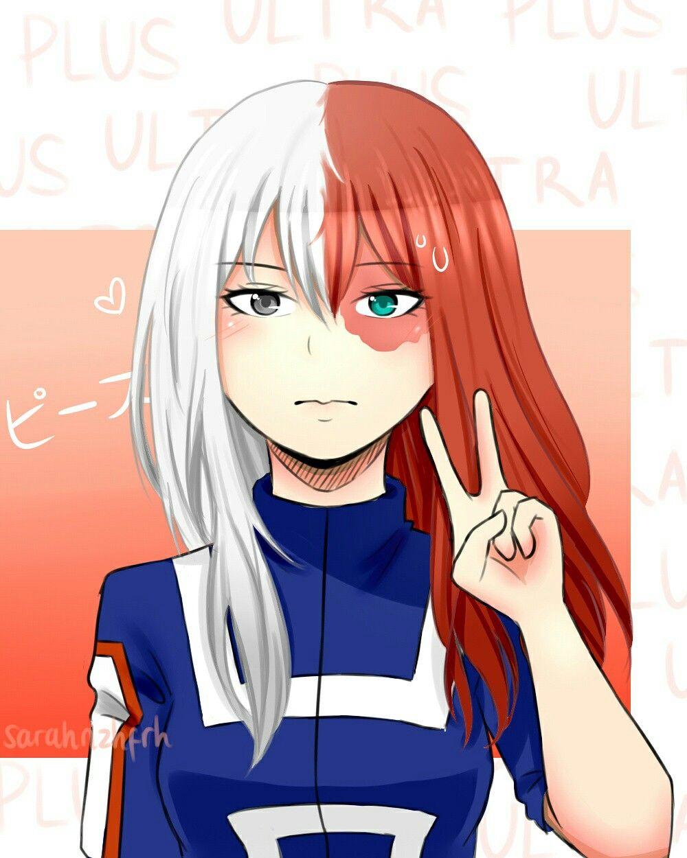Todoroki shouto genderbender genderbend my hero