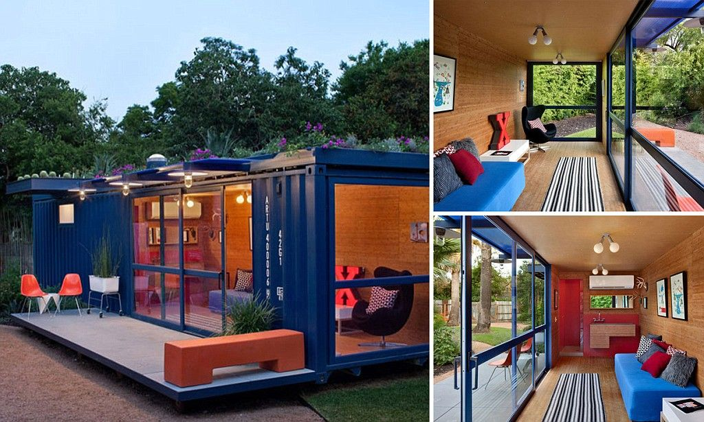Discarded shipping container transformed into guest house | Guest ...