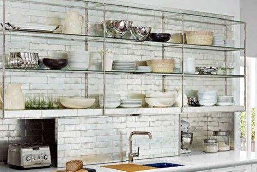 kitchen metal shelves mounted google search - Metal Kitchen Shelves