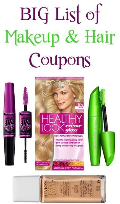 Big List Of Makeup And Hair Coupons 3 00 Off 1 Revlon 2 00 Off 1 Loreal Haircolor More Beauty Skin Quotes Beauty Therapy Beauty Skin Care