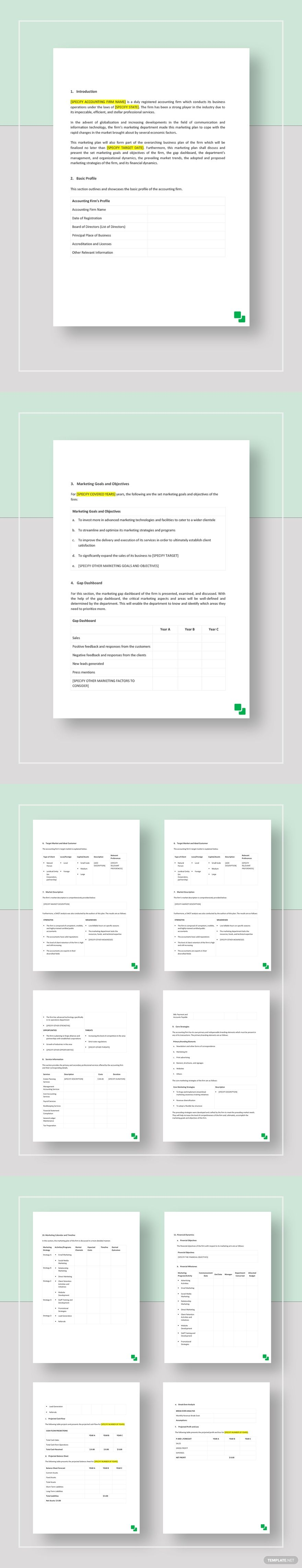 Accounting Firm Marketing Plan Template AD, , SPONSORED