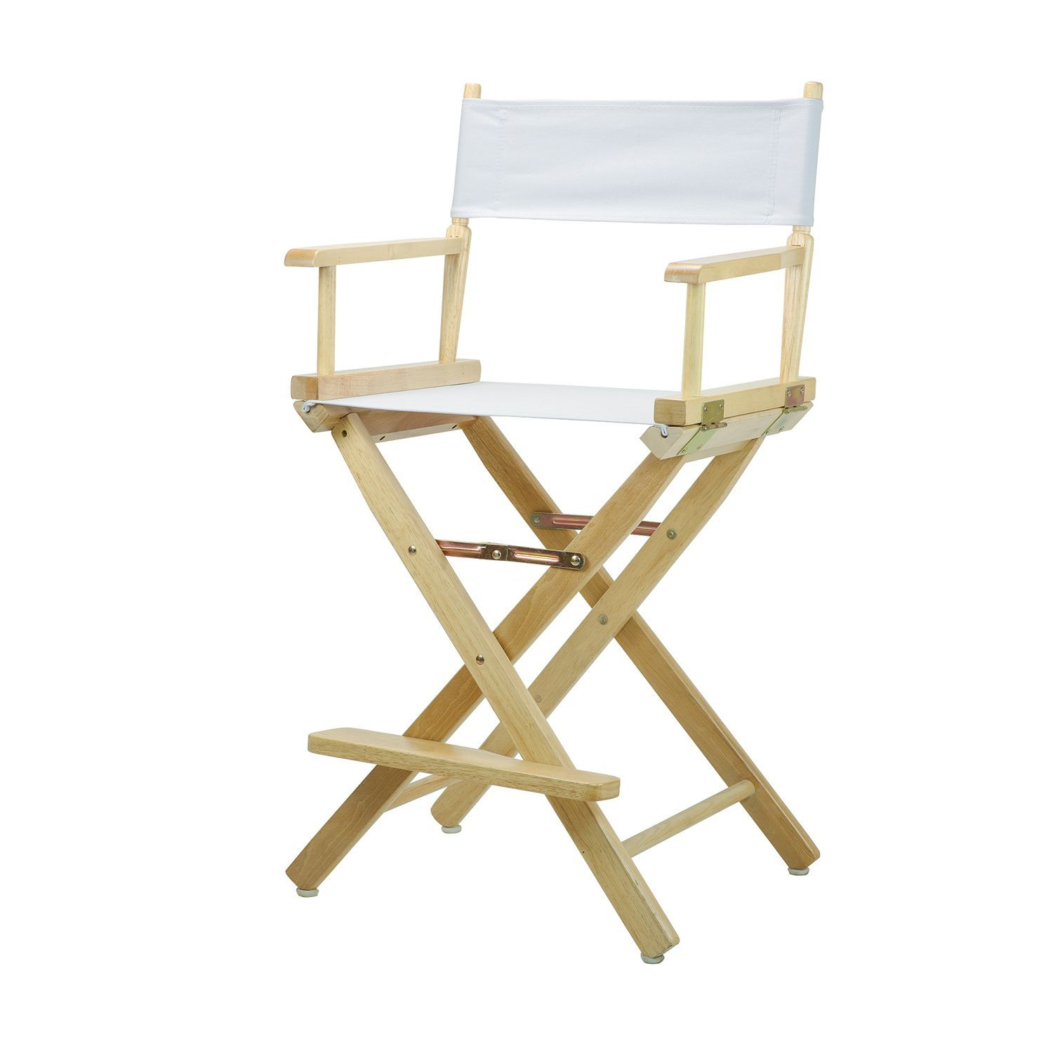 Surprising 24 Directors Chair Natural Frame With White Canvas Creativecarmelina Interior Chair Design Creativecarmelinacom