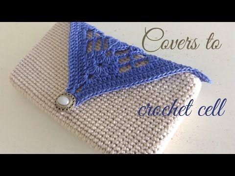 Cómo tejer funda a crochet para celular | HandworkDIY | carteras ...