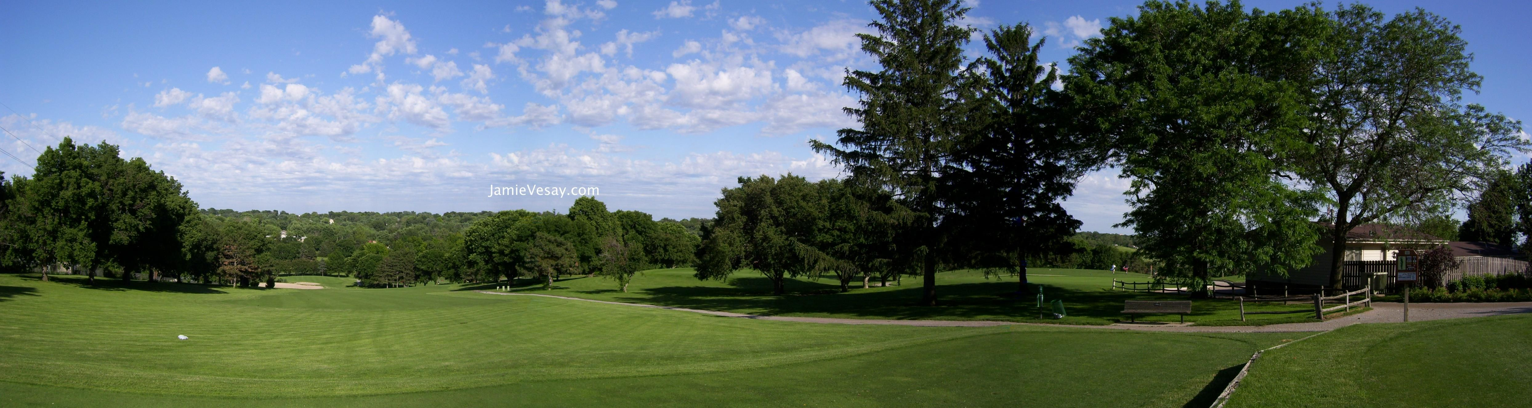 Benson Park Golf Course Omaha, NE Panoramic View from #10 ...