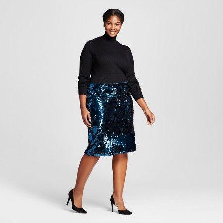 Shop Women's Plus Size Sequin Skirt Outfit - Ava & Viv™ : Target ...