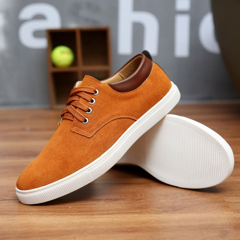 Shoes Men's Shoes Suede Spring Summer Fall Winter Comfort Lace-up For Casual (Color : B Size : 41)