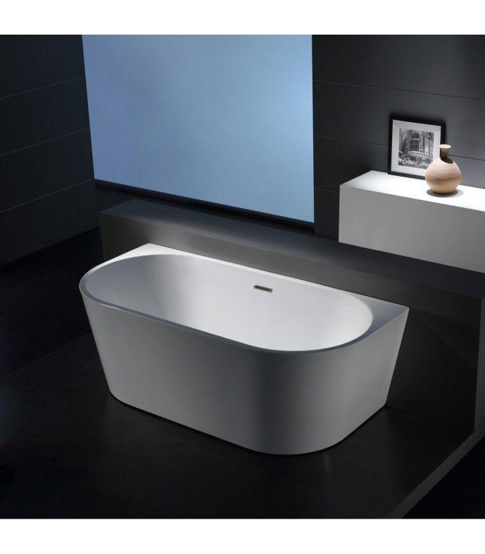 baignoire demi lot oslo blanc 170 cm salle de bain pinterest baignoire salle de bain et. Black Bedroom Furniture Sets. Home Design Ideas