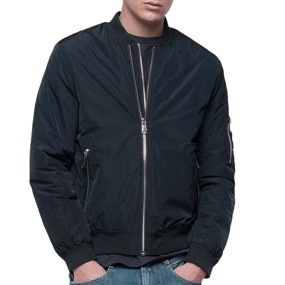 a6041573ad eBay  Sponsored Replay Nylon Bomber Double Zip Jacket