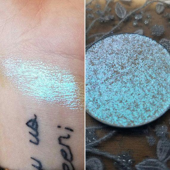 Siren - Color Shifting Violet, Light Blue-Aqua,   Green Pressed  Highlighter, Mineral Highlighter, Mi c7ed78b95634
