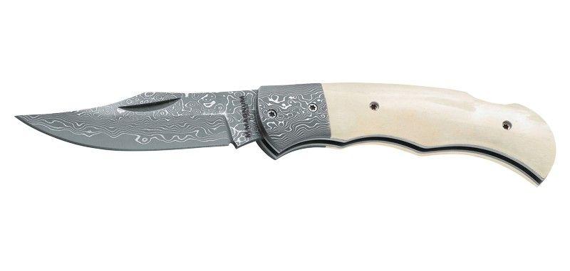 d5cbc43223f4 Couteau Pliant de Poche - Böker Magnum Damascus Bone Verrouillage Lock Back  Lame 7,8