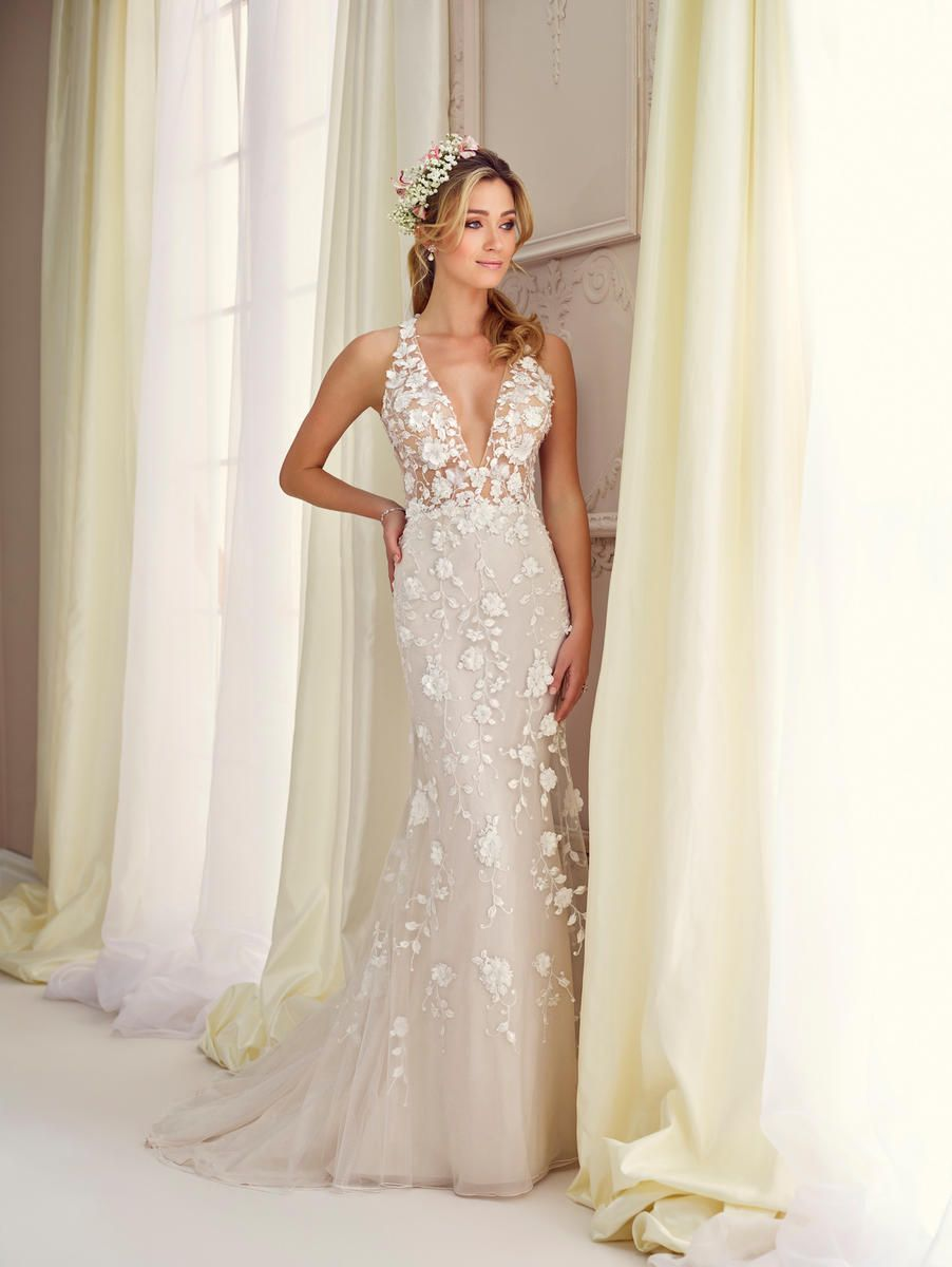 Check Out The Deal On Enchanting By Mon Cheri 217109 Plunging Neck Informal Wedding Dress At French Novelty