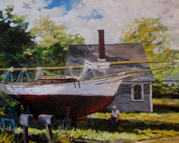 Boothbay Friendship - oil painting by Robert B. McKay