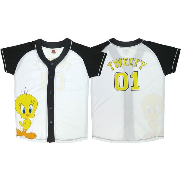 Women s Disney   Looney Tunes Baseball Jerseys None Small ( 20) ❤ liked on  Polyvore featuring tops f9fdfc0d5