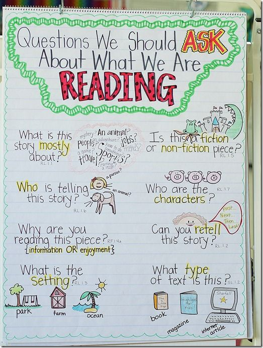 Anchor chart: questions during reading