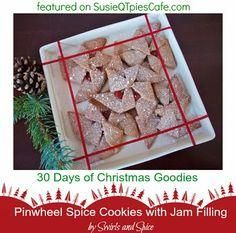 Pinwheel Spice Cookies with Jam Filling - yummy Christmas Goodies #christmas #christmasgoodies #Christmas #goodies