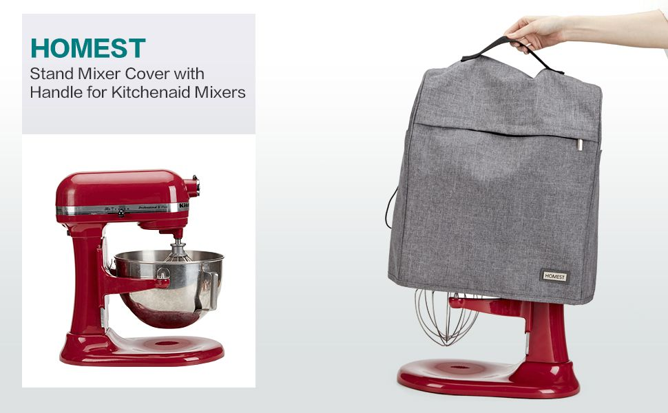 Homest stand mixer dust cover with pockets
