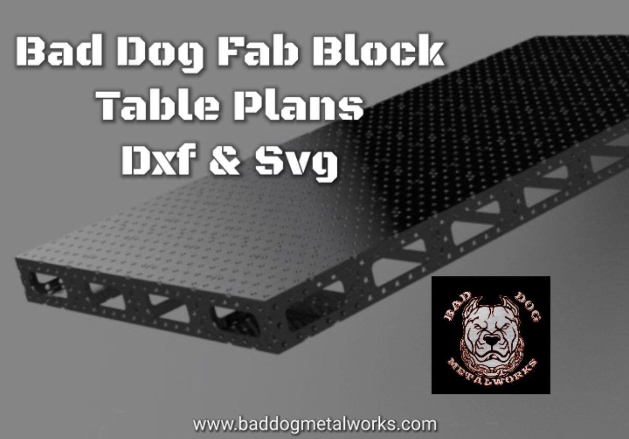 4 X 8 Bad Dog Fab Block Table Dxf Svg Welding Table Etsy In 2020 Welding Table Welding Block Table