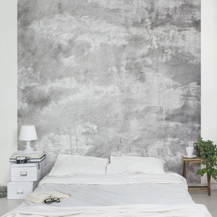 Beton Tapete Vliestapete - Shabby Betonoptik Tapete - Fototapete - schlafzimmer günstig online