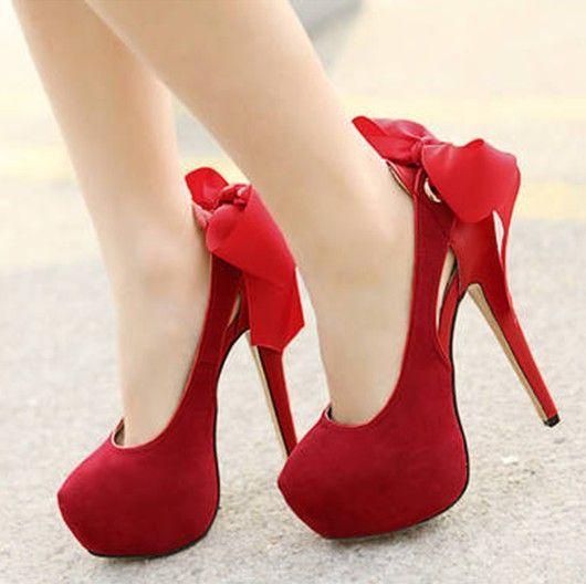 Ribbon Cute Cheap Heels - http://ikuzoladyshoes.com/ribbon-cute ...