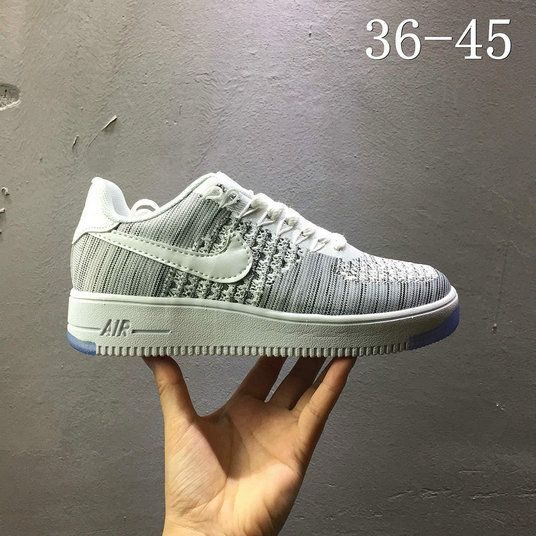 sports shoes a260a 32740 Nike air force 1 AF1 Flyknit low Leaden Grey 820256 103