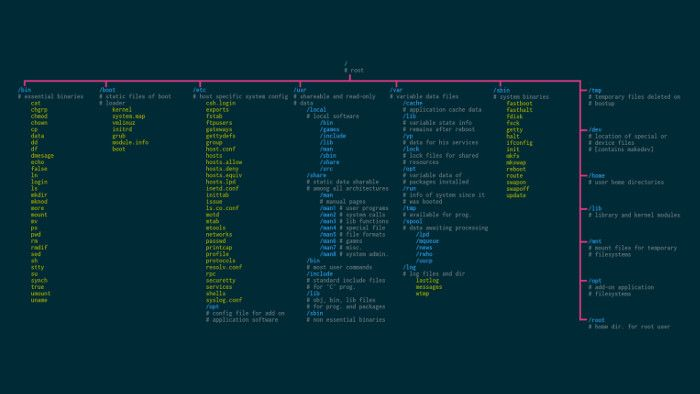Download Linux Wallpapers That Are Also Cheat Sheets It S Foss Linux Filing System Unix