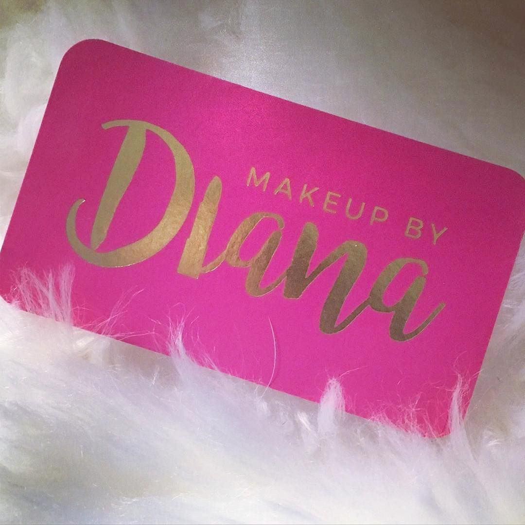 """Fancy Business Cards """"I loved designing these for Diana!! Hot pink ..."""
