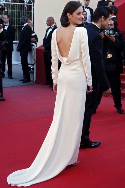 Marion Cotillard en robeDior dos nu au Festival de Cannes 2013