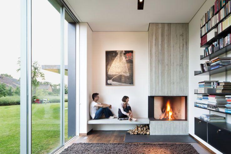 Feuerstellen das große und auch das private Wohnzimmer haben - lampe für wohnzimmer