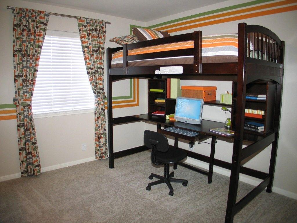 Modern desks with bed up