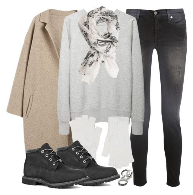 """""""Isaac Inspired Outfit with Black Timberlands"""" by veterization ❤ liked on Polyvore featuring 7 For All Mankind, Étoile Isabel Marant, Harrods and Timberland"""