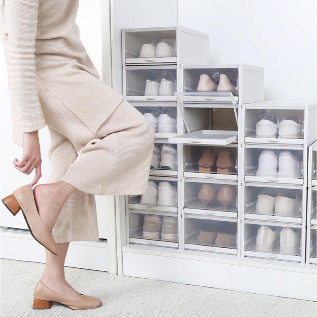 20 New Drawer Type Shoe Box   Shoe box organizer, Shoe box, Shoe ...