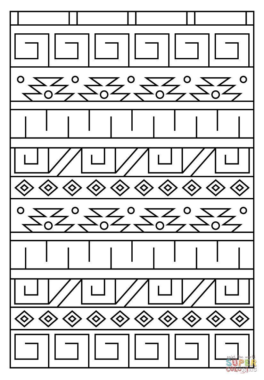 Malvorlagen Indianer Muster - Catherine Miller Grundschule