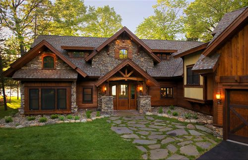 I Like The Front Of This House With Stone Walkway Green Grass In Between Reminds Me Lord Rings Somehow