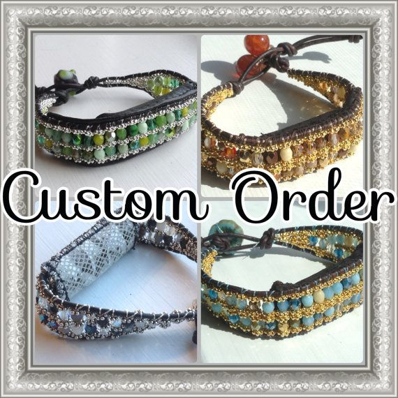 leather wrap bracelet that by MantovaniDesigns
