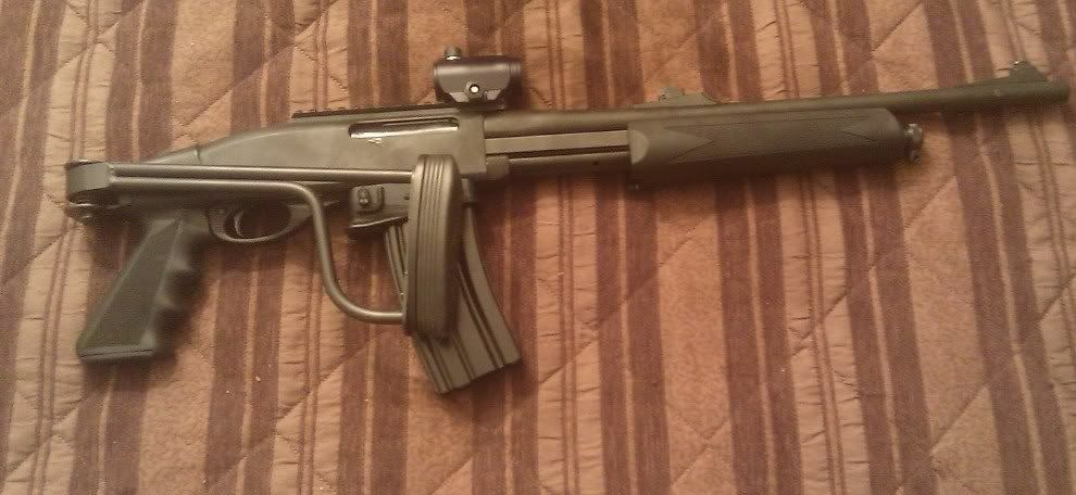 Remington 7600 7615 Conversion with 870 20 Gauge Folding Stock