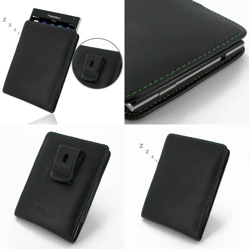 Pdair leather case for blackberry passport vertical