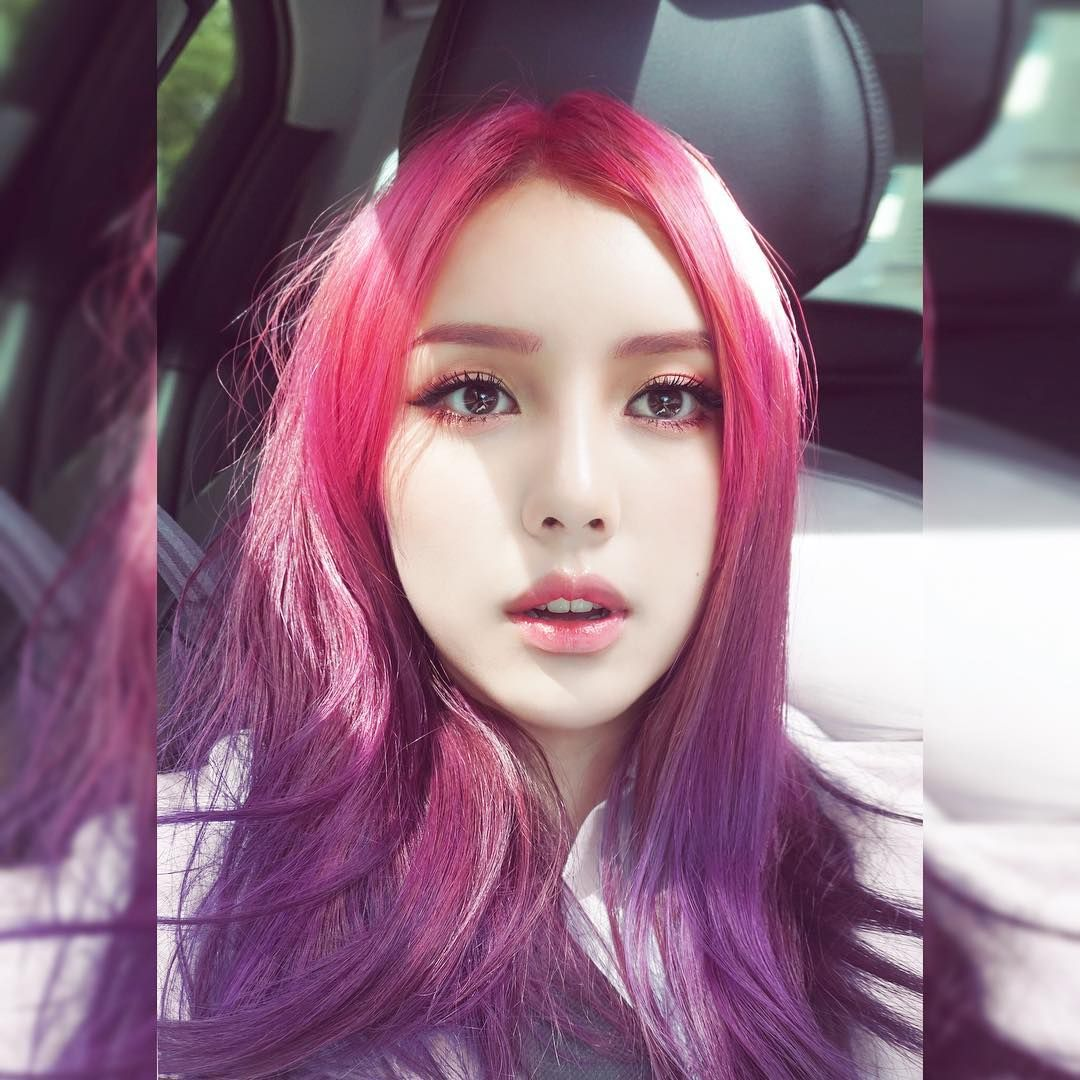 Pink to Purple hair color