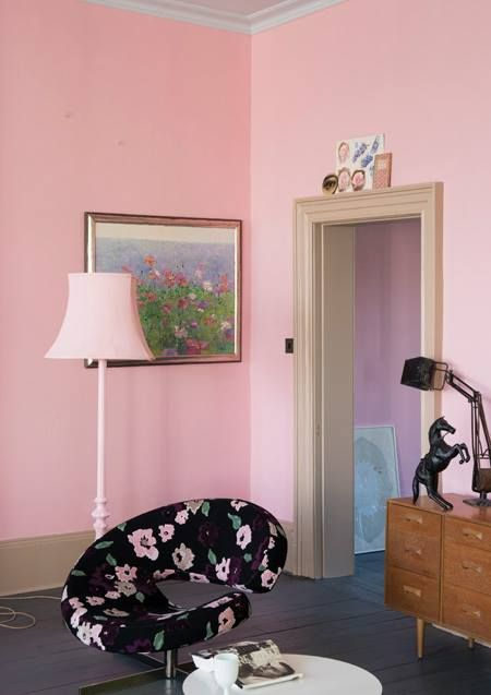 The perfect pink wall. (Nancy by Farrow and Ball Pearl Lowe\'s ...