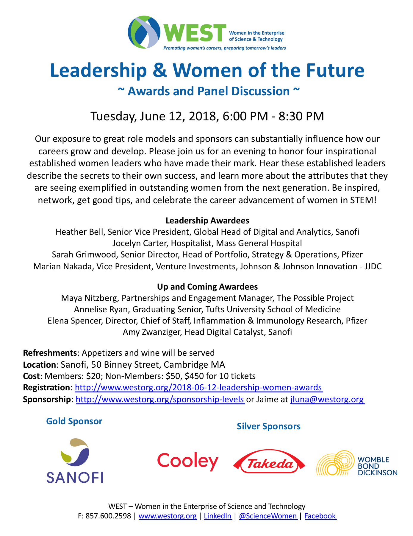 2018 06 12 Leadership And Women Of The Future Awards And Panel Discussion Leadership Women Leaders Stem Careers