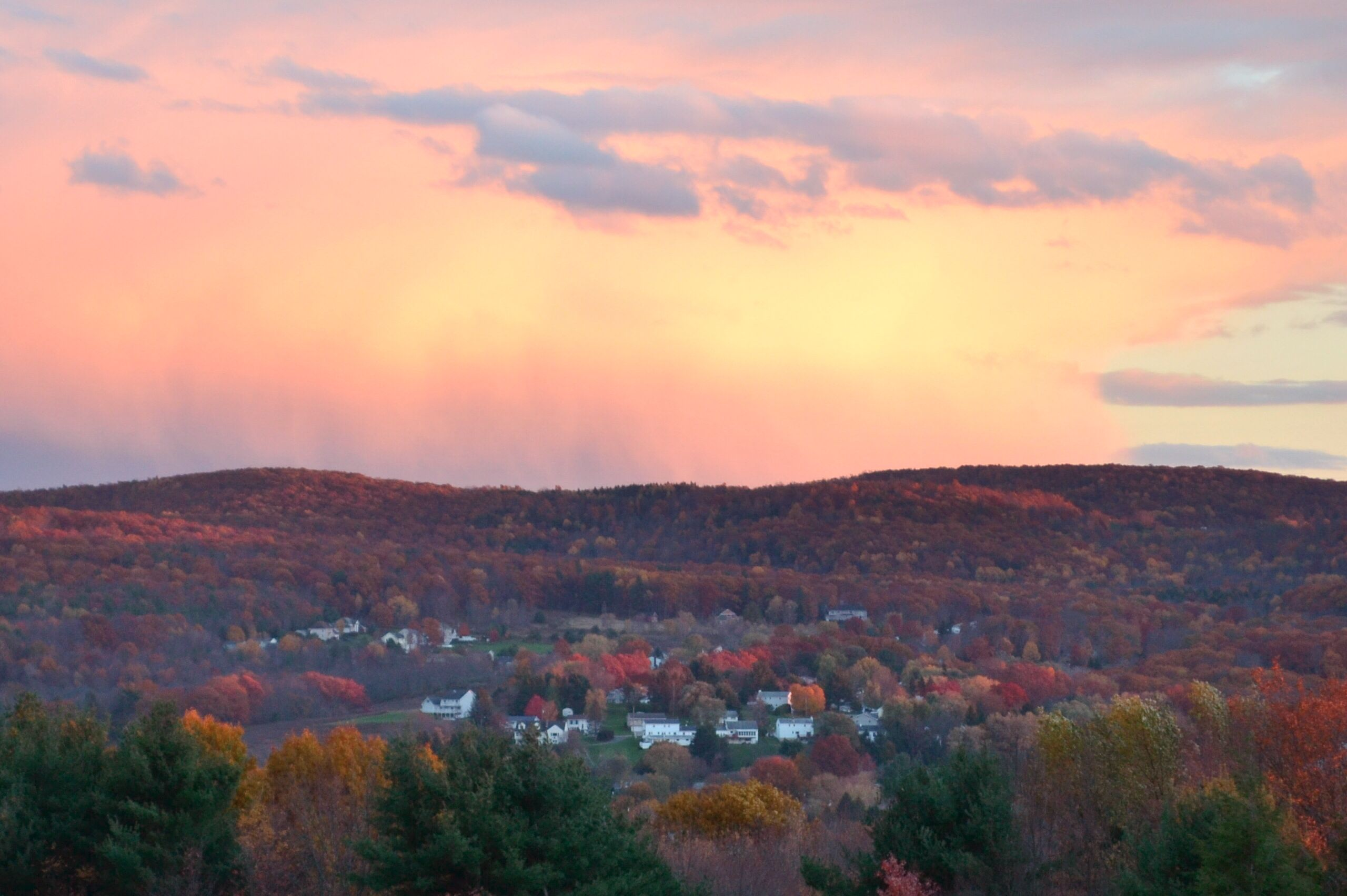 in a little town somewhere far away.. Fall in Endicott, NY ...