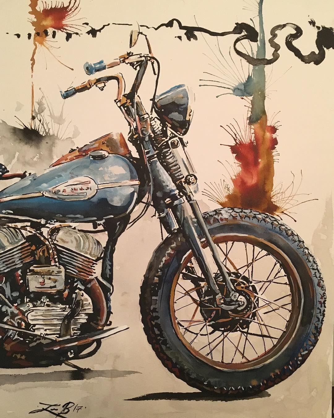 Badass Motorcycle Art By Leebullockart Motorcycle Artwork Motorcycle Art Bike Art