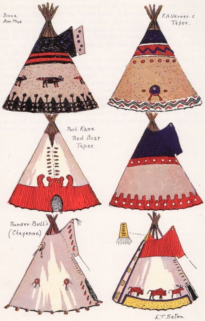 Traditional Design Patterns Of Blackfoot Teepee